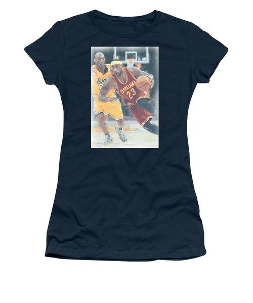 Cleveland Cavaliers Lebron James 3 Women's T-Shirt (Junior Cut) by Joe Hamilton