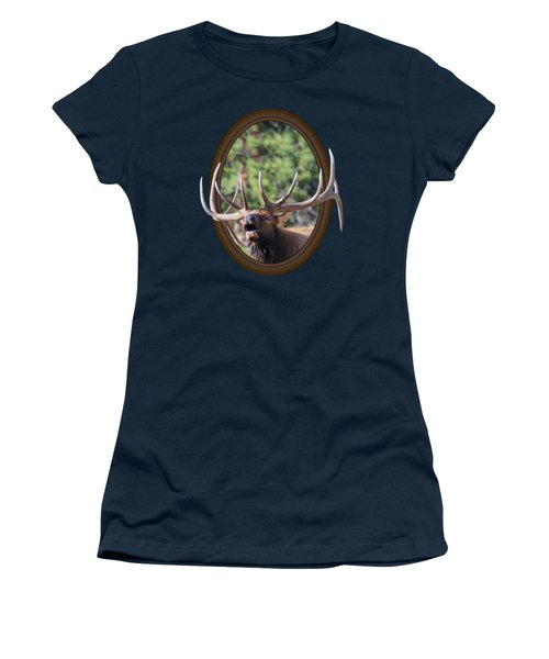 Colorado Bull Elk Women's T-Shirt (Junior Cut) by Shane Bechler