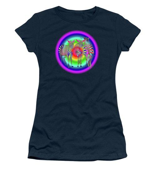 Disco Zebra Pop Art Women's T-Shirt (Junior Cut) by Gill Billington