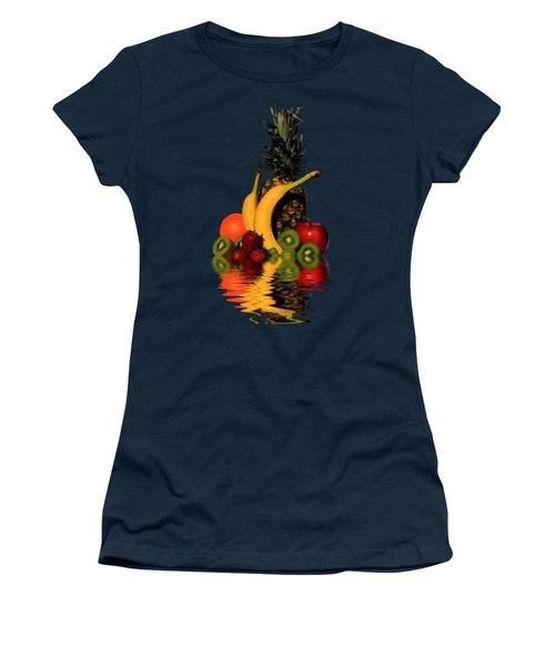 Fruity Reflections - Dark Women's T-Shirt (Junior Cut) by Shane Bechler