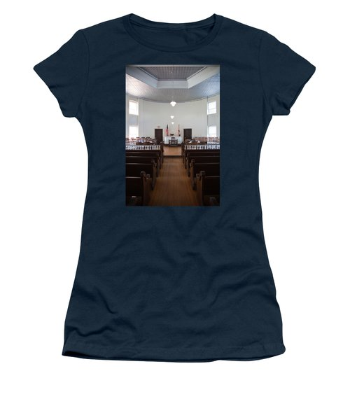Jury Box In A Courthouse, Old Women's T-Shirt (Junior Cut) by Panoramic Images