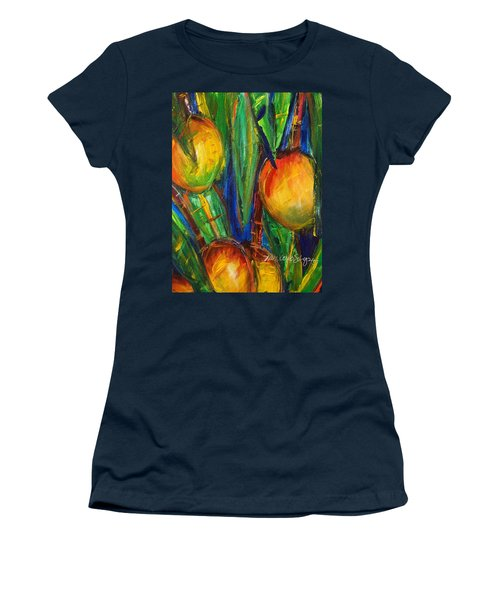 Mango Tree Women's T-Shirt (Junior Cut) by Julie Kerns Schaper - Printscapes