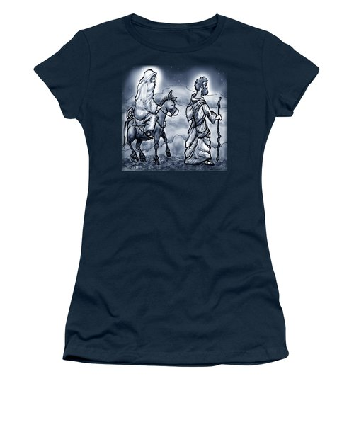 Mary And Joseph  Women's T-Shirt (Junior Cut) by Kevin Middleton
