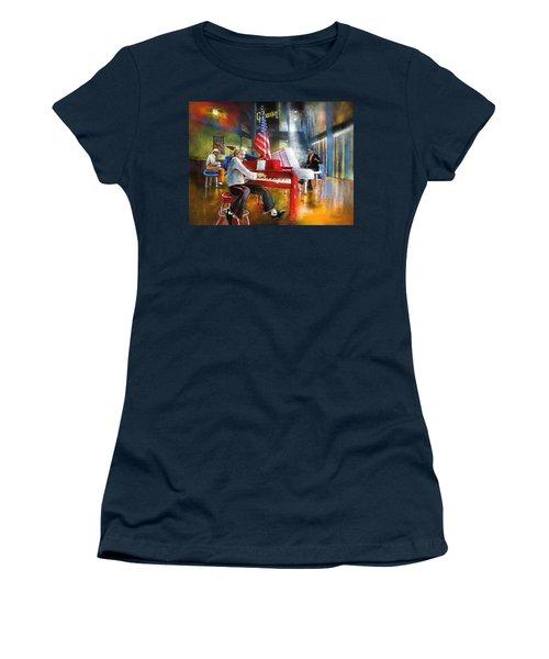 Memphis Nights 04 Women's T-Shirt (Junior Cut) by Miki De Goodaboom