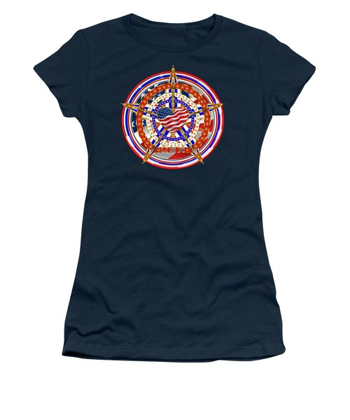 Patriotic For You America Where It Loud And Proud Women's T-Shirt (Junior Cut) by Bill Campitelle