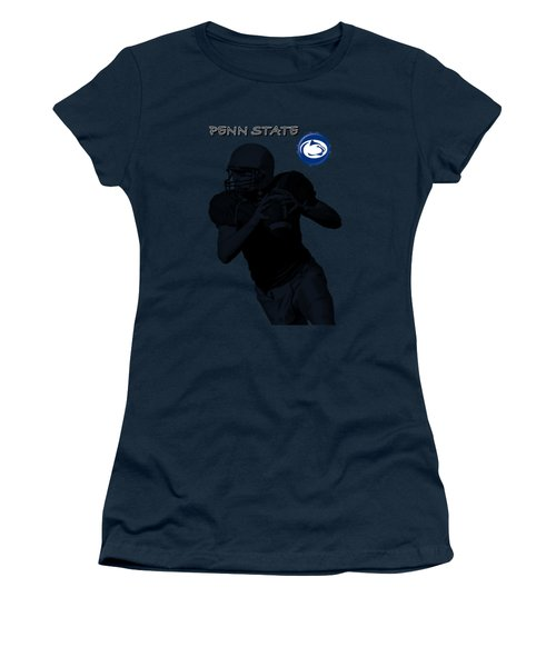 Penn State Football Women's T-Shirt (Junior Cut) by David Dehner