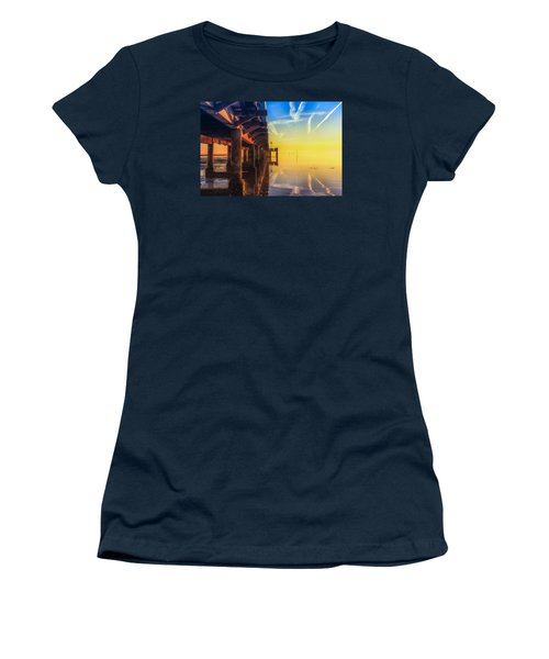 Women's T-Shirt (Junior Cut) featuring the photograph Somewhere Else by Thierry Bouriat