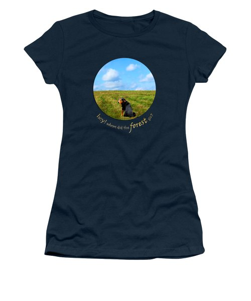 Where Did The Forest Go Women's T-Shirt (Junior Cut) by Christina Rollo