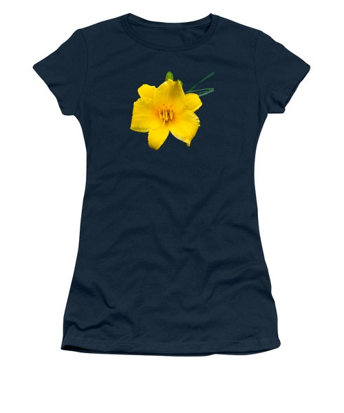 Yellow Daylily Flower Women's T-Shirt (Junior Cut) by Christina Rollo