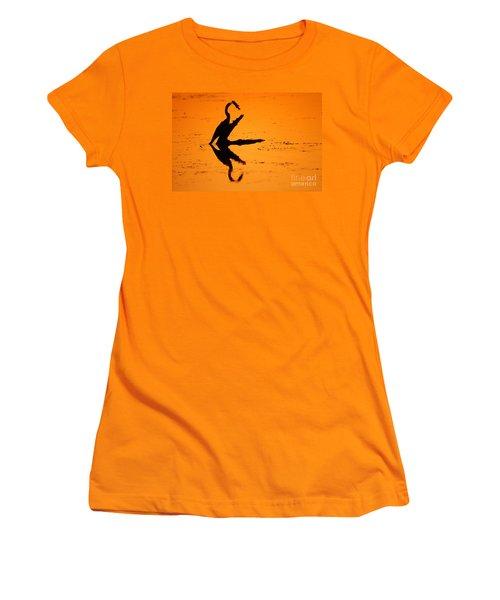 Anhinga Women's T-Shirt (Junior Cut) by Art Wolfe
