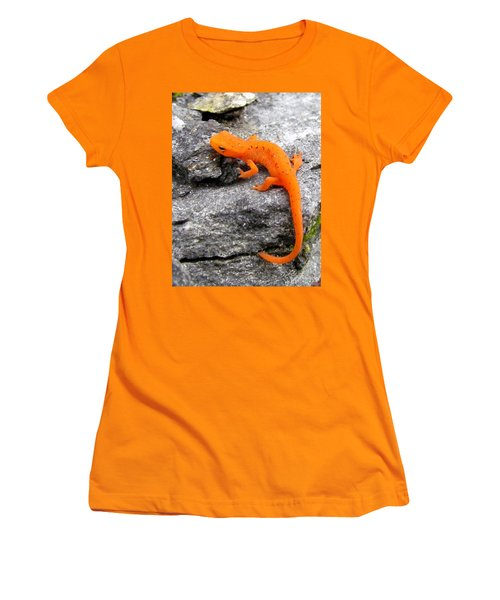 Orange Julius The Eastern Newt Women's T-Shirt (Junior Cut) by Lori Pessin Lafargue