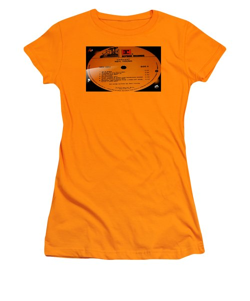 Harvest Neil Young Side 2 Women's T-Shirt (Junior Cut) by Marcello Cicchini