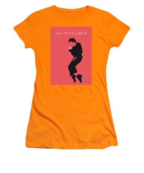 No032 My Michael Jackson Minimal Music Poster Women's T-Shirt (Junior Cut) by Chungkong Art