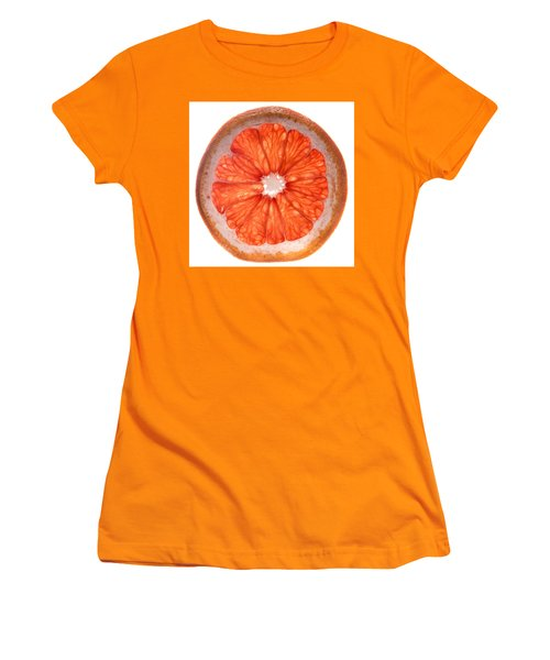 Red Grapefruit Women's T-Shirt (Junior Cut) by Steve Gadomski