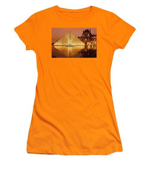 The Louvre By Night Women's T-Shirt (Junior Cut) by Ayse Deniz