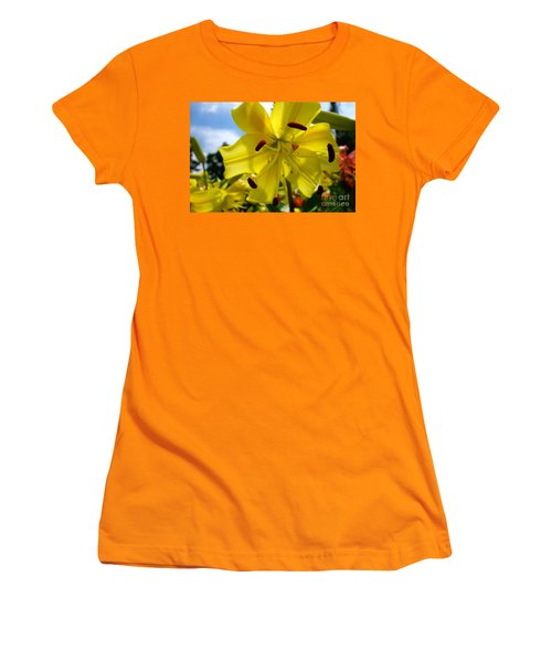 Yellow Whopper Lily 2 Women's T-Shirt (Junior Cut) by Jacqueline Athmann
