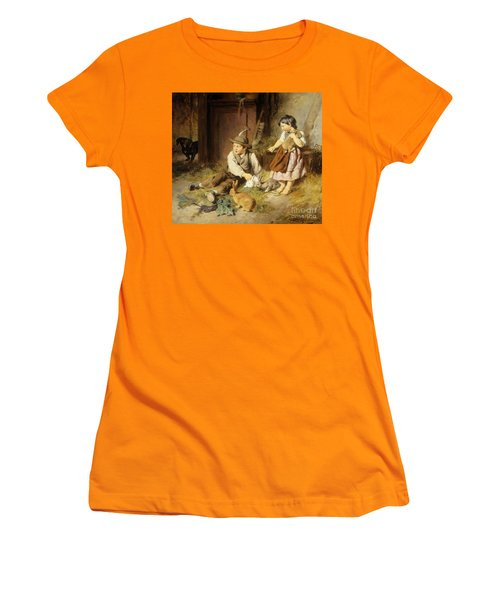An Unwelcome Visitor Women's T-Shirt (Junior Cut) by Felix Schlesinger