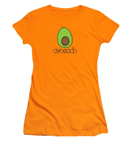 Avocado Women's T-Shirt (Junior Cut) by Monette Pangan
