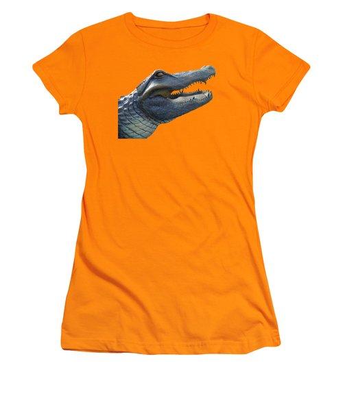 Bull Gator Portrait Transparent For T Shirts Women's T-Shirt (Junior Cut) by D Hackett