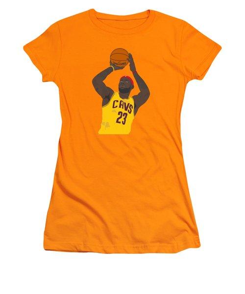 Cleveland Cavaliers - Lebron James - 2014 Women's T-Shirt (Junior Cut) by Troy Arthur Graphics