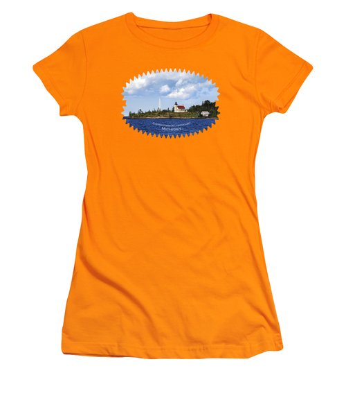 Copper Harbor Lighthouse Women's T-Shirt (Junior Cut) by Christina Rollo