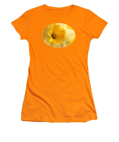 Focus On Spring - Daffodil Close Up Women's T-Shirt (Junior Cut) by Gill Billington