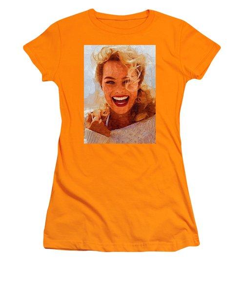 Hollywood Star Margot Robbie Women's T-Shirt (Junior Cut) by Best Actors