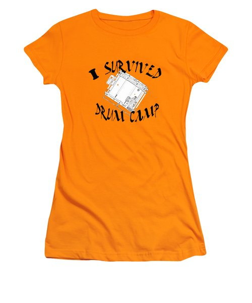I Survived Drum Camp Women's T-Shirt (Junior Cut) by M K  Miller