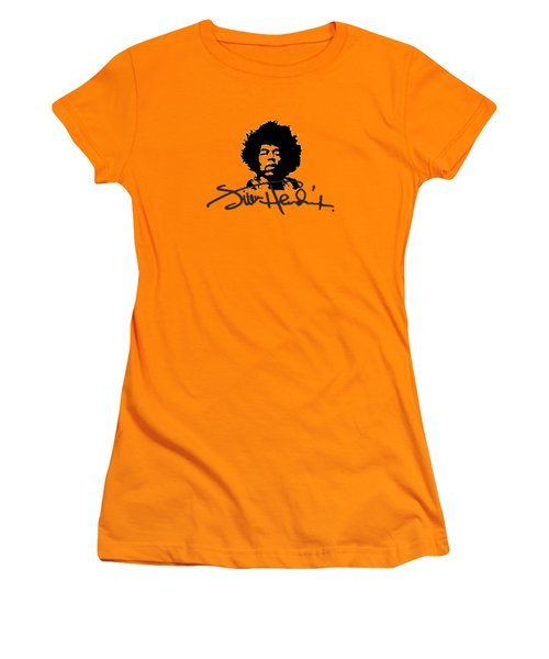 Jimi Hendrix Purple Haze Women's T-Shirt (Junior Cut) by David Dehner