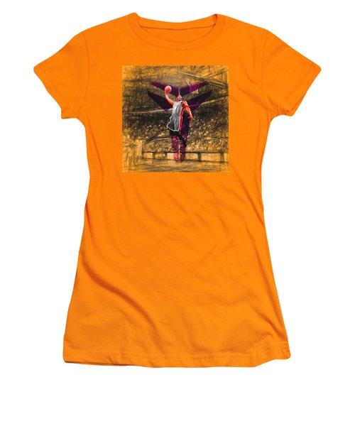 Kobe Bryant Black Mamba Digital Painting Women's T-Shirt (Junior Cut) by David Haskett