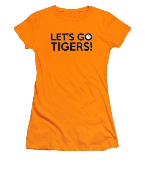 Let's Go Tigers Women's T-Shirt (Junior Cut) by Florian Rodarte