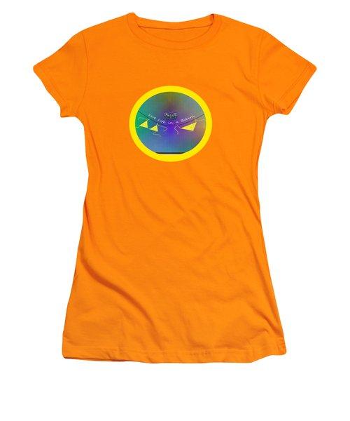 Live Life In A Bikini Women's T-Shirt (Junior Cut) by Kathleen Sartoris