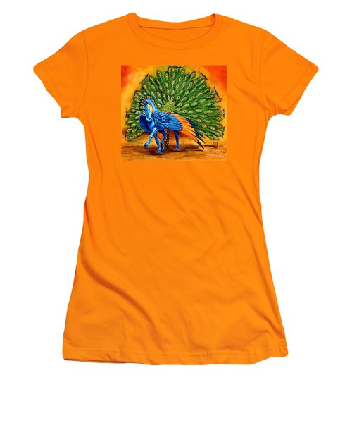 Peacock Pegasus Women's T-Shirt (Junior Cut) by Melissa A Benson