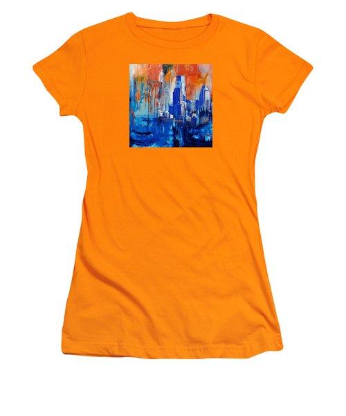 Philadelphia Skyline 227 1 Women's T-Shirt (Junior Cut) by Mawra Tahreem