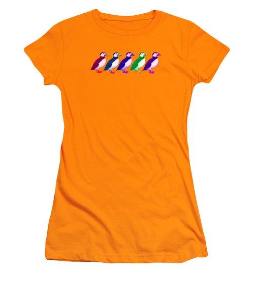 Puffins Apparel Design Women's T-Shirt (Junior Cut) by Teresa Ascone