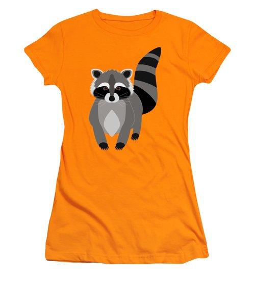 Raccoon Mischief Women's T-Shirt (Junior Cut) by Antique Images