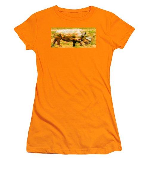 Rhinocerace Women's T-Shirt (Junior Cut) by Caito Junqueira