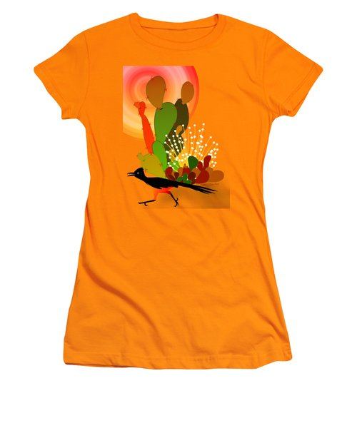 Roadrunner Sunrise Women's T-Shirt (Junior Cut) by Methune Hively