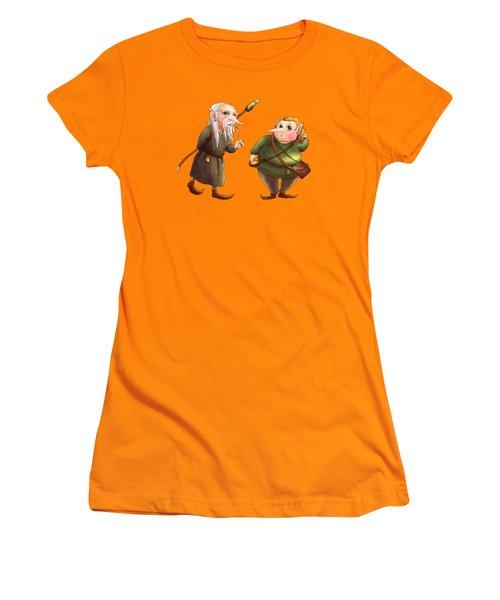Rupert And Shuman Women's T-Shirt (Junior Cut) by Reynold Jay