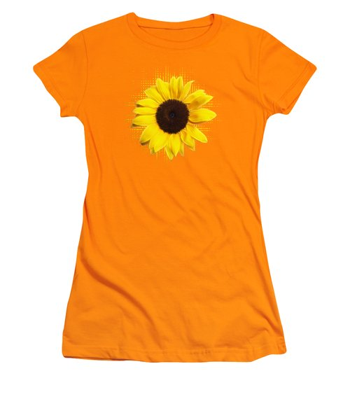 Sunflower Sunburst Women's T-Shirt (Junior Cut) by Gill Billington