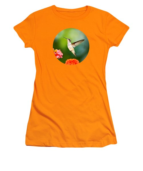 Sweet Promise Hummingbird Women's T-Shirt (Junior Cut) by Christina Rollo