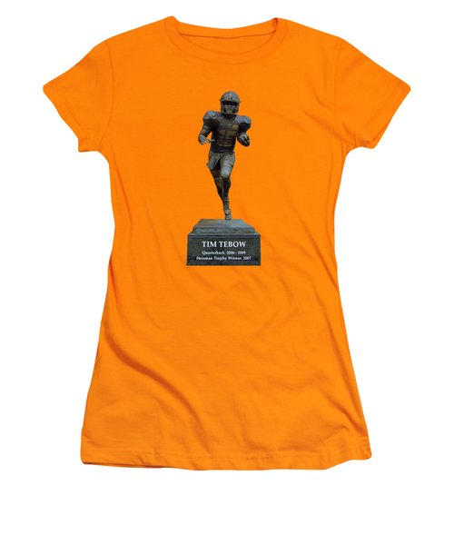 Tim Tebow Transparent For Customization Women's T-Shirt (Junior Cut) by D Hackett