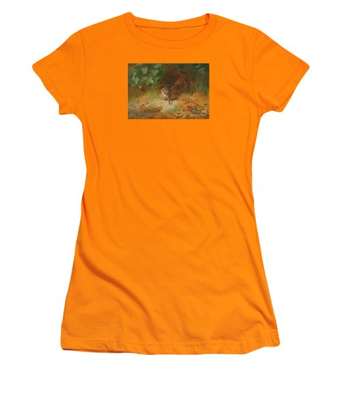 Woodcock Women's T-Shirt (Junior Cut) by Celestial Images