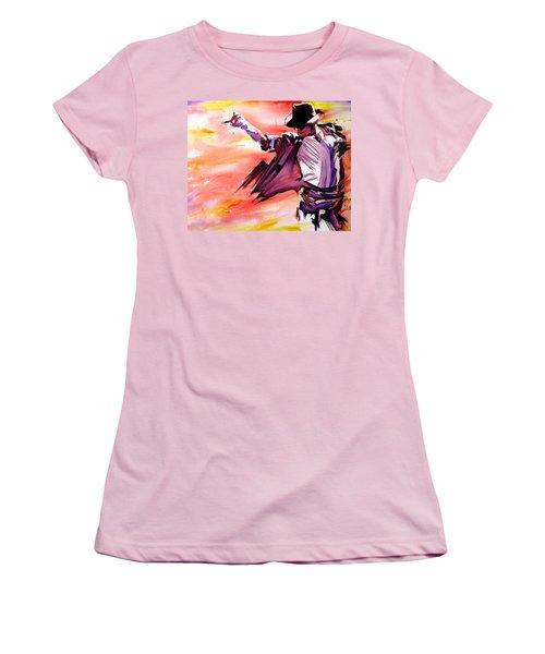Michael Jackson-billie Jean Women's T-Shirt (Junior Cut) by Joshua Morton