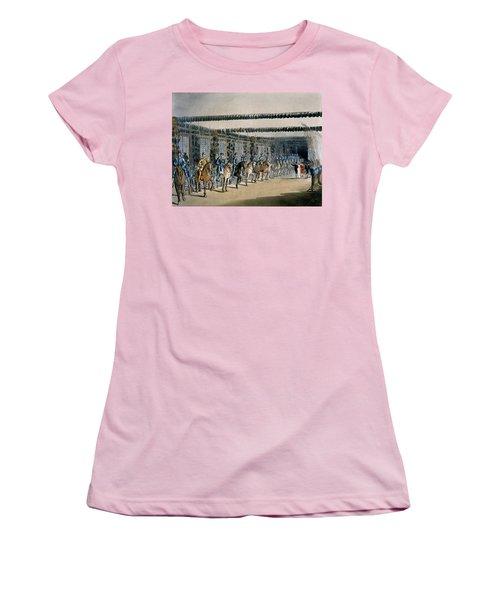 The Horse Armour Tower, Print Made Women's T-Shirt (Junior Cut) by T. & Pugin, A.C. Rowlandson