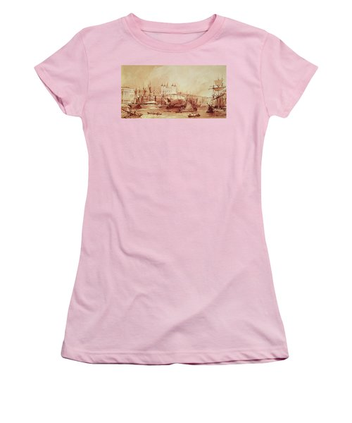 View Of The Tower Of London Women's T-Shirt (Junior Cut) by William Parrott
