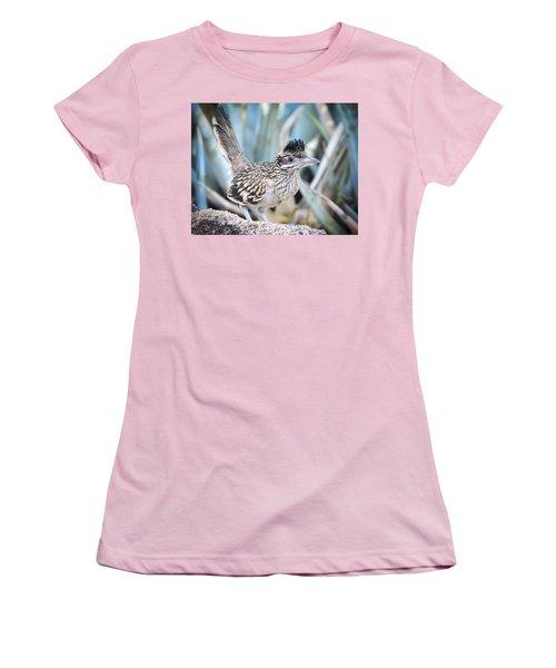 A Juvenile Greater Roadrunner  Women's T-Shirt (Junior Cut) by Saija  Lehtonen