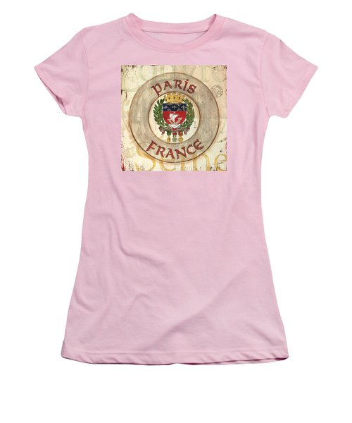 French Coat Of Arms Women's T-Shirt (Junior Cut) by Debbie DeWitt