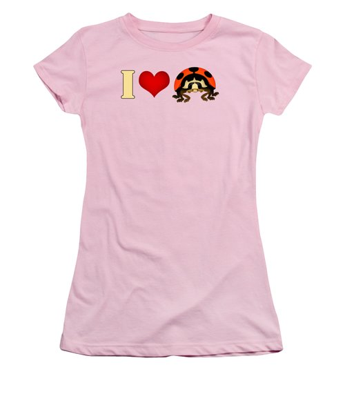 I Love Ladybugs Women's T-Shirt (Junior Cut) by Sarah Greenwell