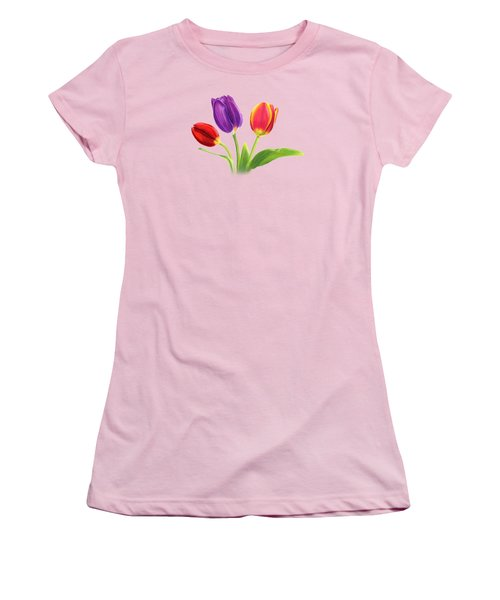 Tulip Trio Women's T-Shirt (Junior Cut) by Sarah Batalka